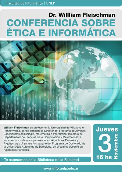 Conferencia sobre ética por el Dr. William Fleischman