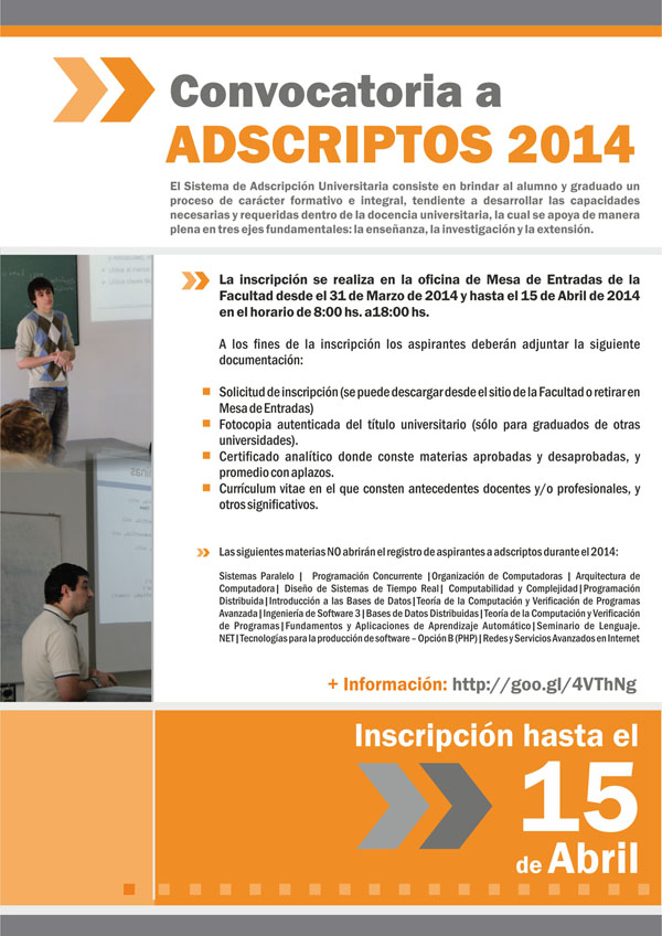 Programa de Adscripción 2014