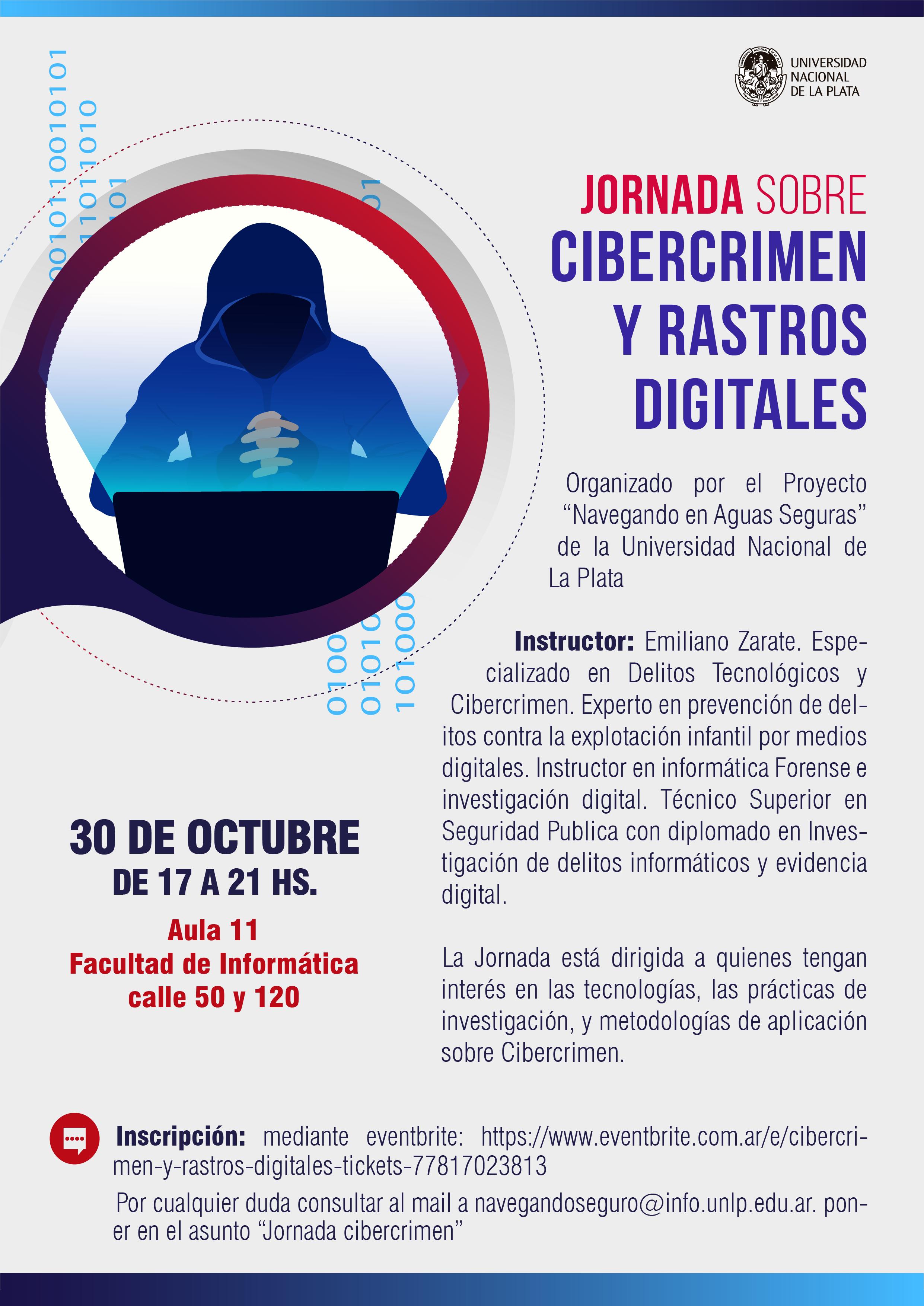 Jornada Cibercrimen - 30 de octubre - 17:00 a 21:00 hs